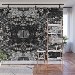Black, White and Gray All Over Wall Mural