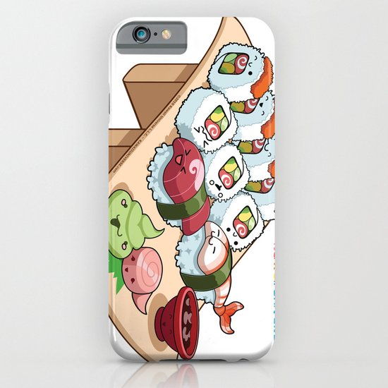 Kawaii California Roll and Sushi Shrimp and Tuna Nigiri iPhone & iPod Case