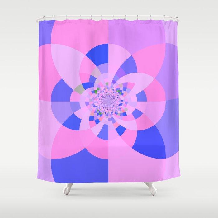 Lavender Purple Blue Kaleidoscope Shower Curtain