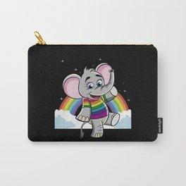 Rainbow Elephant - Cute Elephantidae Carry-All Pouch