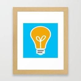 Let Your Light(bulb) Shine Framed Art Print