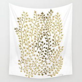 Gold Ivy Wall Tapestry