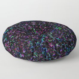 Black Light Color Spray Floor Pillow