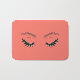 Betty Gone Batty (Forest Green on Coral Edition) Bath Mat