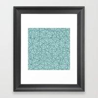 Ab Out Shatter Blend Framed Art Print