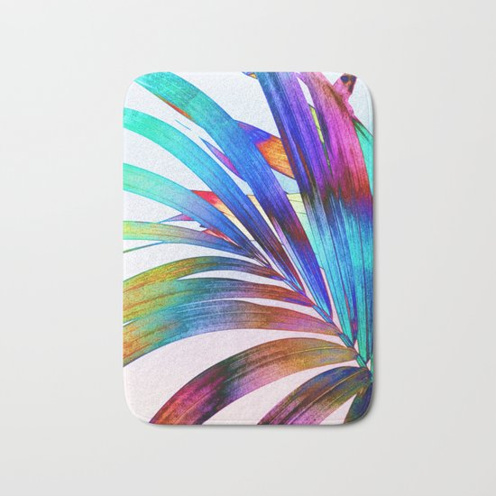 Multicolor Palm Leaf Bath Mat