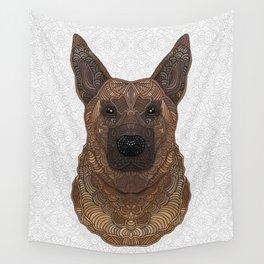 New German Shepherd Portrait Wall Tapestry