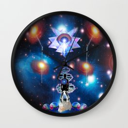 'Pleiadian Quantum Activations & Astral Lightship' Wall Clock