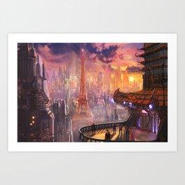 Neo Paris Art Print