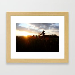 The sun's on my side, take me for a ride, I smile up to the sky, I know I'll be alright ...... Framed Art Print