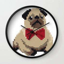 8-bit Pug Wall Clock