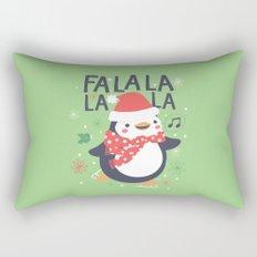 Fa la la penguin Rectangular Pillow