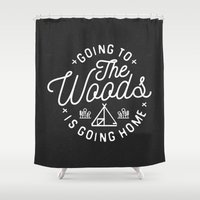 arya Shower Curtains featuring Going to the Woods is Going Home by Kevin Arya