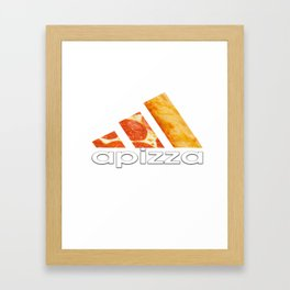 apizza funny pizza work out shirt Framed Art Print