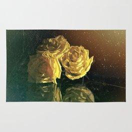 Yellow Vintage Roses Rug