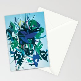 The Gift- Mixed Media Fantasy Abstract Paper Art  Stationery Cards