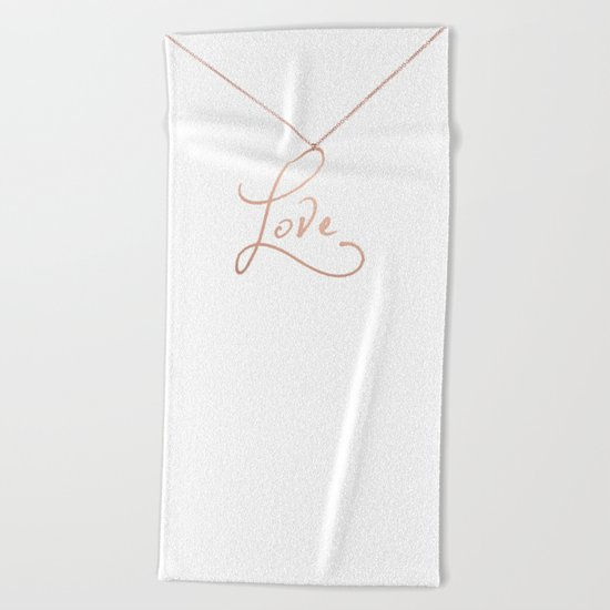 Love Pendant Beach Towel