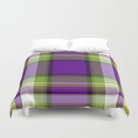 plaid Duvet Covers featuring Plaid by Kevin Rogerson