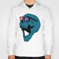 rock n roll Hoodies featuring Rock N' Roll Skull by Diseños Fofo