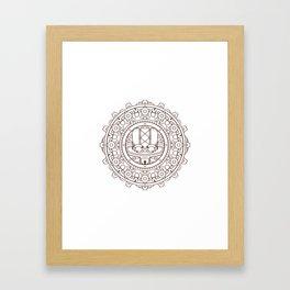 Steampunk Hat Mandala Framed Art Print