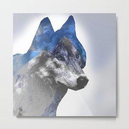 Double wolf Metal Print