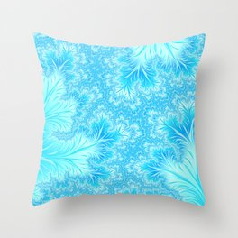 Abstract Christmas Aqua Blue Branches. Cute nature pattern Throw Pillow