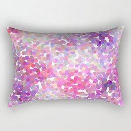 Pink and Purple Galaxy Confetti Rectangular Pillow