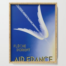 Flèche D'Orient - Vintage Air France Travel Poster Serving Tray