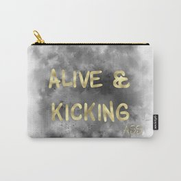 Alive and Kicking (gold) Carry-All Pouch