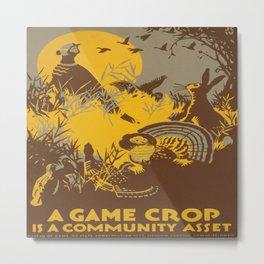 Vintage poster - Game Crop Metal Print