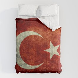National flag of Turkey, Distressed worn version Comforters
