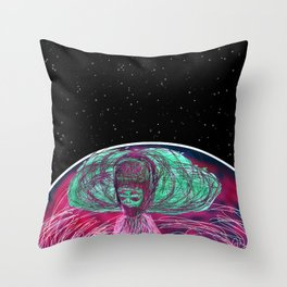 Enter Galactica Throw Pillow