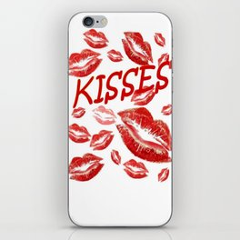 Cover Me In Kisses iPhone Skin