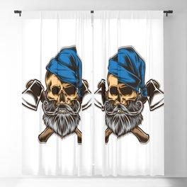 Skull Lumberjack With Axe Vector Blackout Curtain