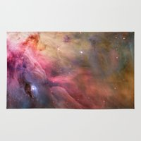 nasa Area & Throw Rugs featuring Nebula star Orion galaxy hipster NASA space and stars photo by iGallery