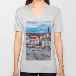 Tallinn art 10 #tallinn #city Unisex V-Neck