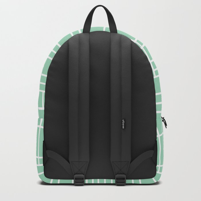 Map Outline Mint Backpack