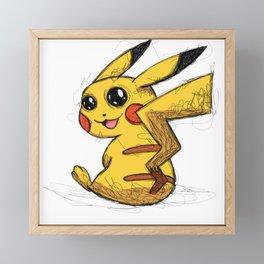 Cute yellow animal Framed Mini Art Print
