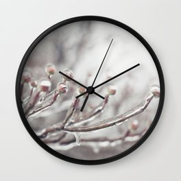 Icy Branches #1 Wall Clock