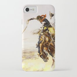 """""""A Bad Hoss"""" by Charles M Russell iPhone Case"""