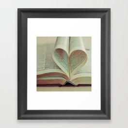i heart books Framed Art Print