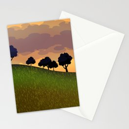 Landscape summer Stationery Cards