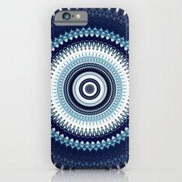 Indigo Boho Mandala iPhone Case
