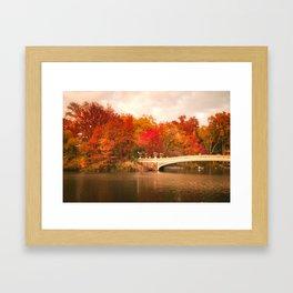 New York City Autumn Magic in Central Park Framed Art Print
