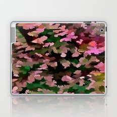 Foliage Abstract In Pink, Peach and Green Laptop & iPad Skin