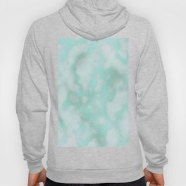 Abstract modern neo mint white marble design Hoody