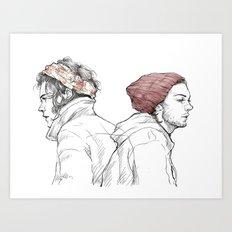 Rose and Dagger Art Print