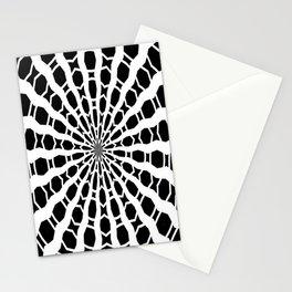 Black and White Bold Kaleidoscope Stationery Cards