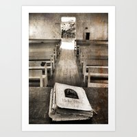 bible Art Prints featuring Bible Print by Gia Jury