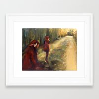 agnes Framed Art Prints featuring Agnes - Autumn by Dawn Dudek